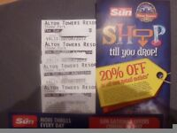 FOUR ALTON TOWERS TICKETS FOR FRIDAY 2ND JUNE 2017 ADMITS ADULT OR CHILD