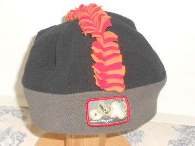 Kids Obermeyer Brand Black, Gray, Orange & Red Mohawk Fleece Winter Ski Cap