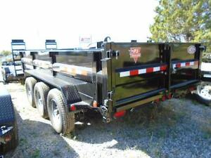 PJ TRIPLE AXLE DUMP TRAILER 21,000LB 7 X 16' BED YOUR BEST PRICE London Ontario image 4