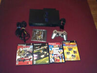 Fat Playstation 2 Ps2 With all cable Network Adapter 5 games