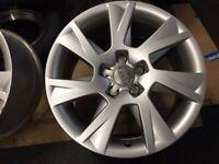 2 off Genuine Audi 17 Inch x 7.5J Alloy Wheels