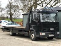 ford iveco 7.5 tonne recovery lorry c/w tilt and slide bed and spec (NO VAT)