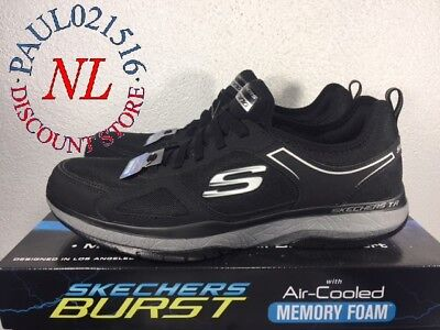 Skechers Burst With Air Cooled Memory Foam Men's Shoes ~ Black ~ Various Sizes !