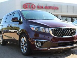 2015 Kia Sedona SXL+, SUNROOF, COOLED/HEATED SEATS, HEATED WHEEL