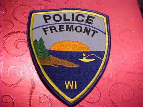FREMONT WISCONSIN POLICE PATCH SHOULDER SIZE UNUSED
