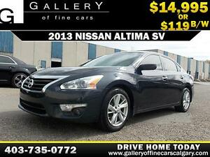 2013 Nissan Altima 2.5L SV $119 bi-weekly APPLY NOW DRIVE NOW
