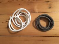 Round electric cable with cotton (White cable and a grey cable)