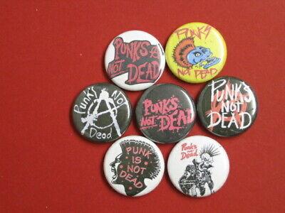 Stick On Buttons (PUNKS NOT DEAD 7 pinbacks 1