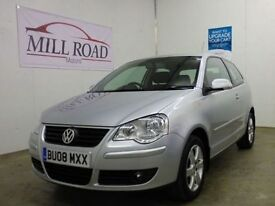 VOLKSWAGEN POLO 1.2 MATCH 3d 68 BHP ONLY 2 OWNERS (silver) 2008
