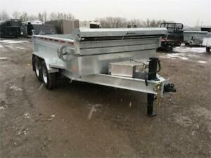 80x12 7 Ton I-Beam Frame Galvanized Dump Trailers - Exclusive