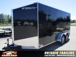 "ONTARIO TRAILERS TANDEM AXLE 7' X 16'+30"" V-NOSE TITAN"