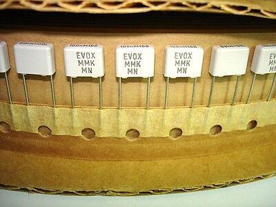 25 Pack 0.1uf .1uf 100v Evox Rifa Mmk Polyester Film Box Capacitors New