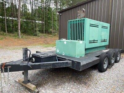 Onan Allis Chalmers Diesel Generator Three Phase 125kw On 3 Axle Trailer