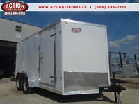 WORK TRAILER -SAVE MONEY ON OUR 2016 HAULIN 7 X 14' WEDGE NOSE