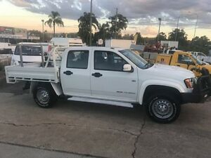 2011 Holden Colorado RC MY11 LX (4x4) White 5 Speed Manual Crew C/Chas