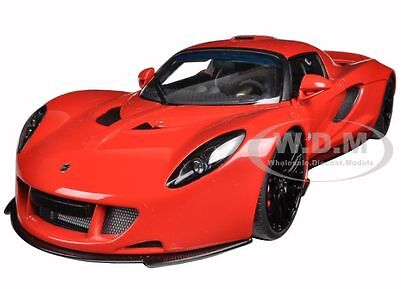 Hennessey Venom Gt Spyder Red 1 18 Diecast Model Car By Autoart 75403