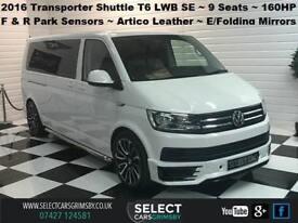 2016 VW Volkswagen Transporter Shuttle T6 LWB SE 9 Seat 160BHP - Candy White