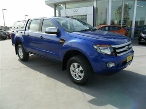 2014 Ford Ranger PX XLS Double Cab Aurora Blue 6 Speed Sports Automatic Utility Telarah Maitland Area Preview