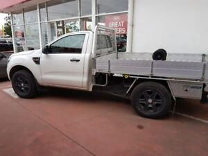 2014 Ford Ranger PX XL 4x2 Hi-Rider White 6 Speed Manual Cab Chassis