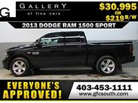 2013 DODGE RAM SPORT CREW *EVERYONE APPROVED* $0 DOWN $219/BW!