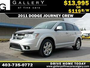 2011 Dodge Journey Crew $119 bi-weekly APPLY NOW DRIVE NOW