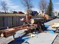 Portable custom woodmizer sawmill for hire