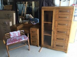 Antique Bedroom Set 1940s *** Reduced to $450