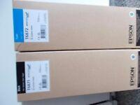 Brand new EPSON inks genuine T6871x 20un Black/ T6872x 15un Cyan