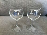 2 x Millenium 2000 French Wine Glasses