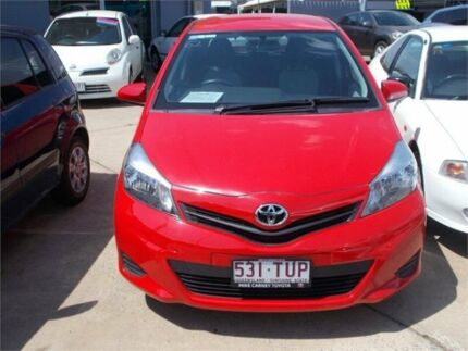 2014 Toyota Yaris NCP130R YR Red 5 Speed Manual Hatchback Fyshwick South Canberra Preview