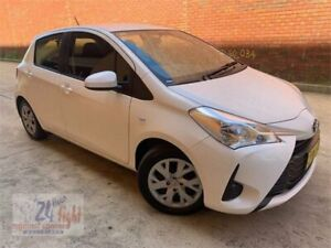 2019 Toyota Yaris NCP130R Ascent White 4 Speed Automatic Hatchback Campbelltown Campbelltown Area Preview