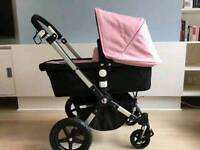 Bugaboo cameleon 3 limited edition fabric soft pink in great condition