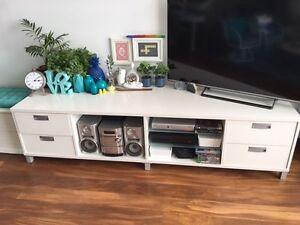 LARGE TV UNIT - WHITE & SLIVER Hillsdale Botany Bay Area Preview