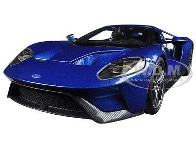 2017 FORD GT BLUE 1/18 DIECAST CAR MODEL BY MAISTO 31384