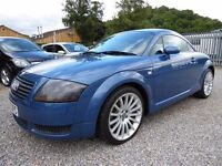 Audi TT 1.8 T Quattro Edition, in Metallic Blue, Ful Leather, Full Service History and a Long MOT