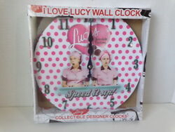 I LOVE LUCY 12 WALL CLOCK CHOCOLATE FACTORY SPEED IT UP DESIGN