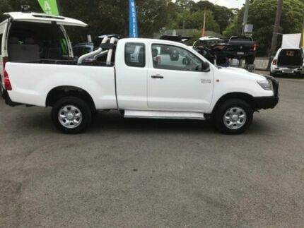 2012 Toyota Hilux KUN26R MY12 SR (4x4) White 5 Speed Manual X Cab C/Chas