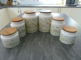 Kitchen Ware - HORNSEA 'FLEUR' 21 items - see pictures