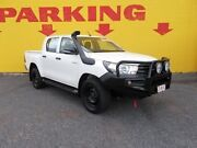 2016 Toyota Hilux GUN125R Workmate Double Cab White 6 Speed Manual Utility Winnellie Darwin City Preview