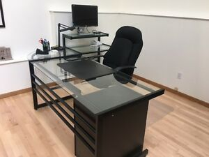 Complete Office - Desk, Computer Side Table and Chair
