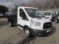 Ford Transit 350 L2 SINGLE CAB TIPPER 125PS EURO 5 DIESEL MANUAL WHITE (2016)
