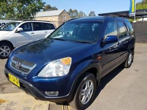 2002 Honda CR-V MY02 (4x4) Sport Blue 4 Speed Automatic Wagon Campbelltown Campbelltown Area Preview