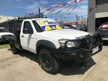 2008 Mazda BT-50 08 Upgrade B3000 DX (4x4) White 5 Speed Manual Cab Chassis Brooklyn Brimbank Area Preview