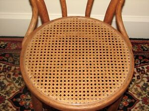 Antique Bentwood Bistro Chair, Woven Cane Seat, Cafe-Style Kitchener / Waterloo Kitchener Area image 5
