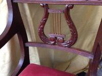 8 X mahogany chairs