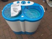Mobile Twin Tub Washing machine - Ideal for Caravans or Motor Homes
