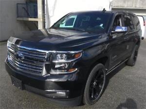 "NEW 2017 Chevrolet Tahoe Premier Black on Black 22"" black wheels"