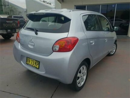 2013 Mitsubishi Mirage LA ES Silver 5 Speed Manual Hatchback Burwood Burwood Area Preview