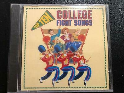 Top Ten - College Fight songs (CD) New Sealed Ships 1st Class