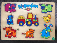 ELC Blossom Farm Wooden peg Jigsaw Early Learning Centre (worth £12 new)